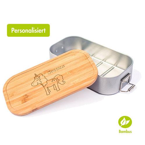 EINHORN - Lunchbox mit Bambusdeckel
