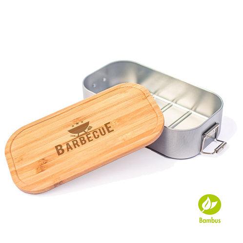 BARBECUE - Lunchbox mit Bambusdeckel