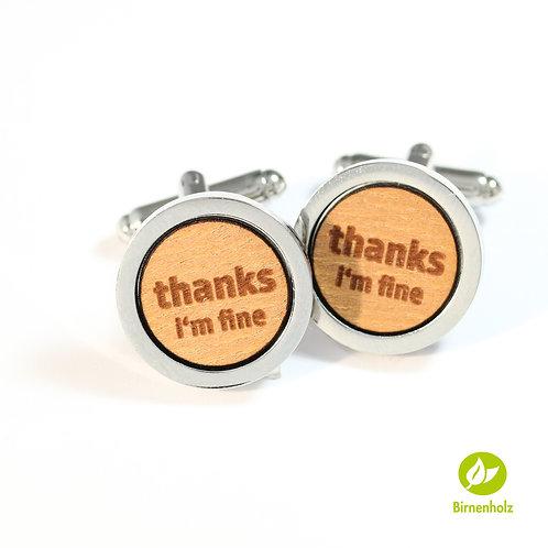 Manschettenknöpfe «Thanks»