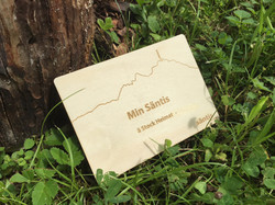 Holzpostkarte Säntis Shop