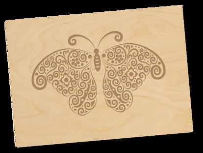 Holzpostkarte «flügelschlag»