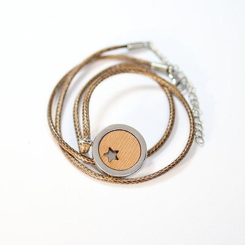 Stern Cut Halskette mit Birnenholz