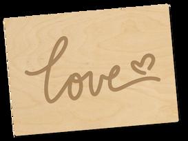 Holzpostkarte «love»