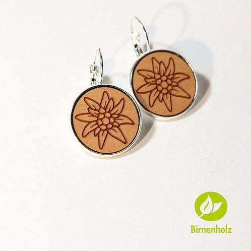 Ohrringe mit Birnenholz «edelweiss»