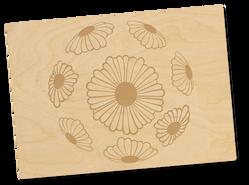 Holzpostkarte «Blumenkugel»