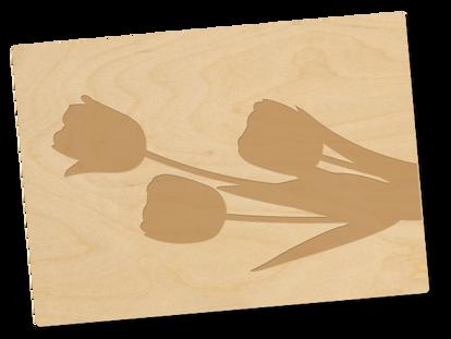 Holzpostkarte «Tulpen»