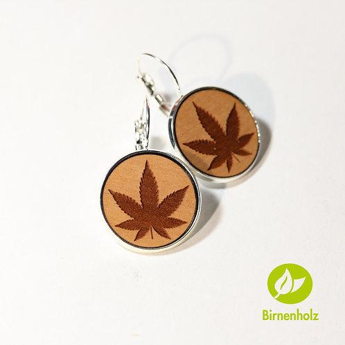 Ohrringe mit Birnenholz «hanf»