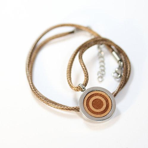 Circle Halskette mit Birnenholz