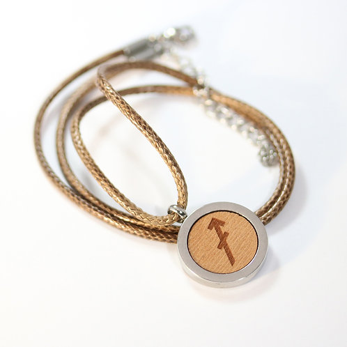 SCHÜTZE Sternzeichen Halskette mit Birnenholz