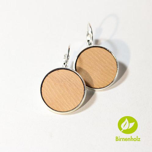 Ohrringe mit Birnenholz «natur»