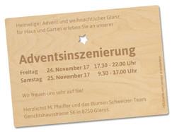 HolzpostkarteBlumen Schweizer