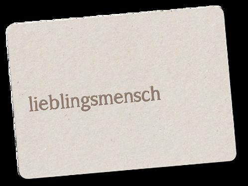 LIEBLINGSMENSCH