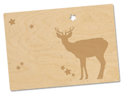 Holzpostkarte «Bambi»