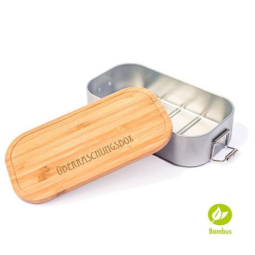 ÜBERRASCHUNGSBOX - Lunchbox mit Bambusdeckel