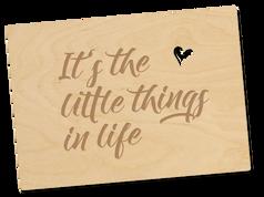Holzpostkarte «little things»