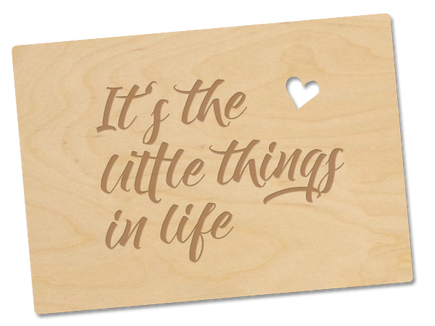 Holzpostkarte «little things»