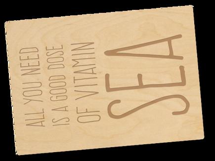 Holzpostkarte «Vitamin Sea»
