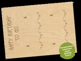 Holzpostkarte «küchlein»