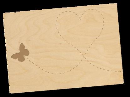 Holzpostkarte «schwungvoll»