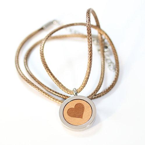 Herz Halskette mit Birnenholz
