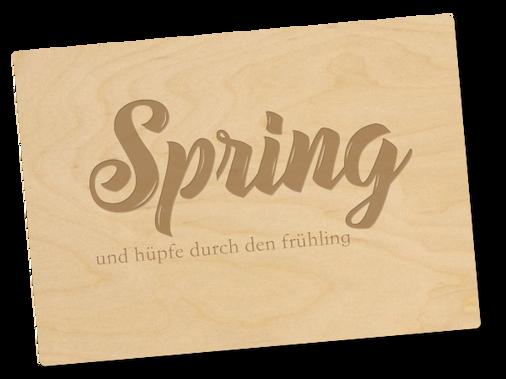 Holzpostkarte «spring»