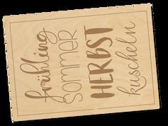 Holzpostkarte «quattro stagioni»