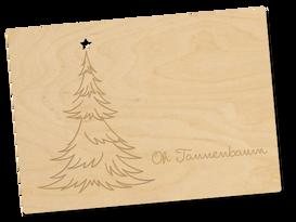 Holzpostkarte «Oh Tannenbaum»