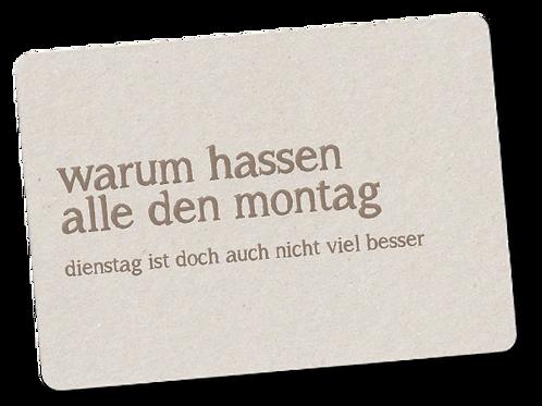 MONTAG - DIENSTAG