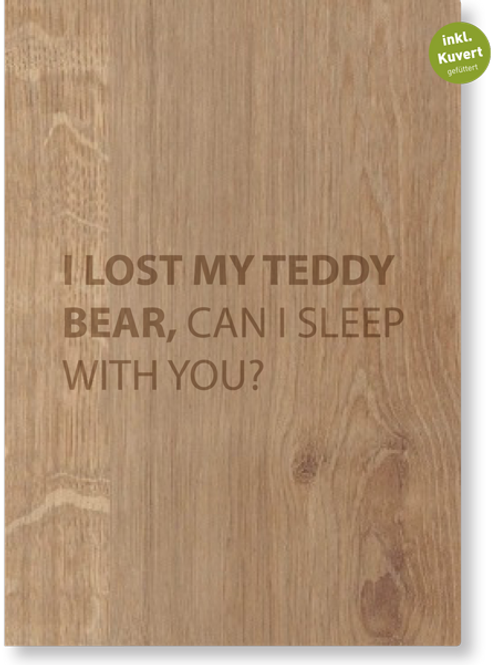 LOST MY TEDDY FALTKARTE
