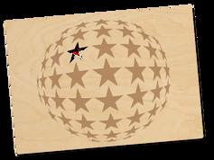 Holzpostkarte «Sternenkugel»