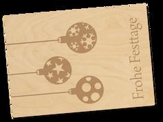 Holzpostkarte «Frohe Festtage»