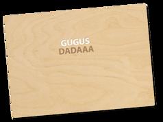 Holzpostkarte «gugus»