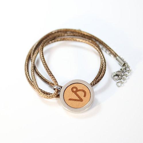 STEINBOCK Sternzeichen Halskette mit Birnenholz