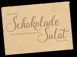 Holzpostkarte «Salat»