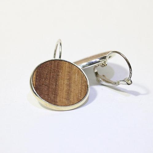 Ohrringe mit Nussbaumholz