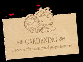 Holzpostkarte «Tomatoes»