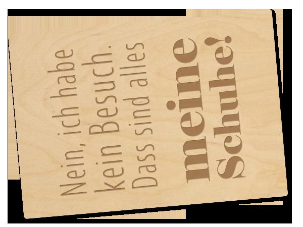 Holzpostkarte «Meine Schuhe»