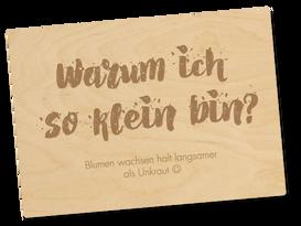 Holzpostkarte «so klein»