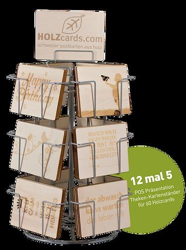 Postkarten aus Holz, produziert in der Schweiz