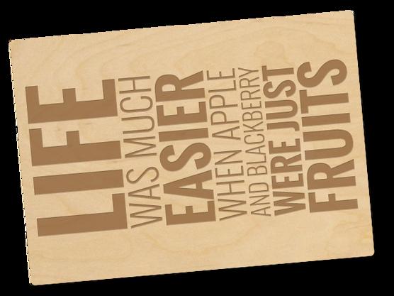Holzpostkarte «Life»