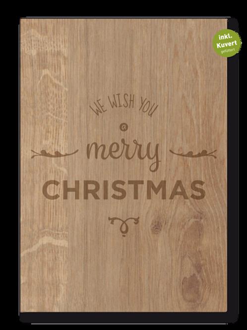 MERRY CHRISTMAS FALTKARTE