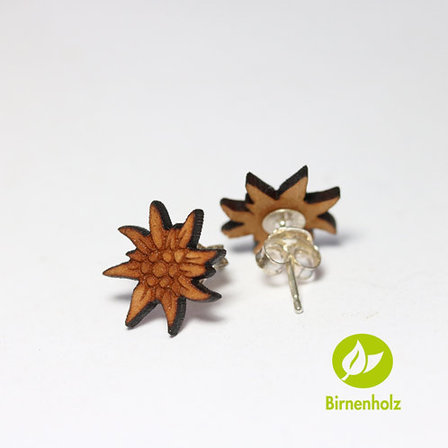 Ohrstecker WOOD «edelweiss»