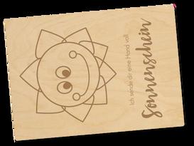 Holzpostkarte «Sonnenschein»