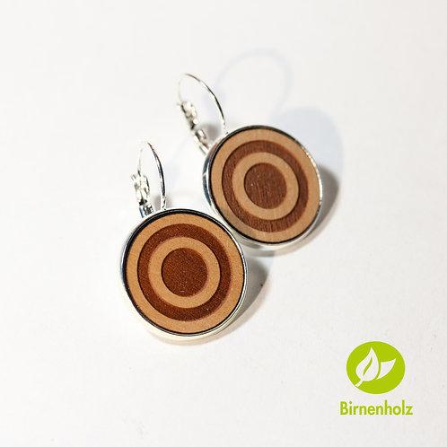 Ohrringe mit Birnenholz «circle»