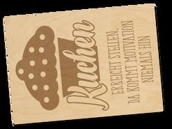 Holzpostkarte «kuchen»
