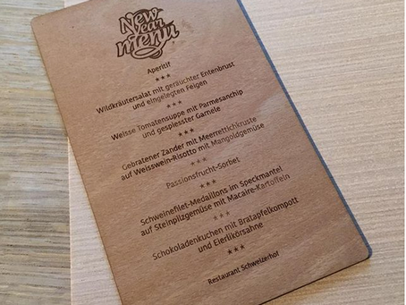 Speisekarte | Menukarte aus Holz