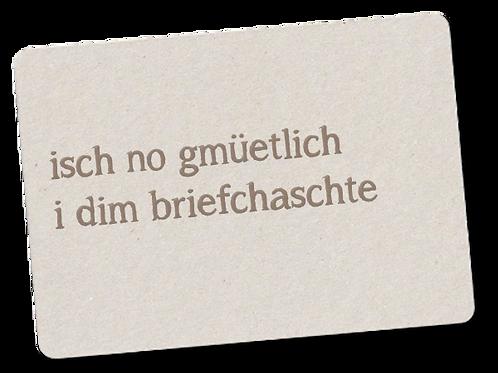 NO GMÜETLICH