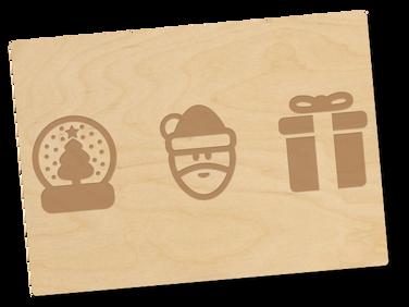 Holzpostkarte «Weihnachten»