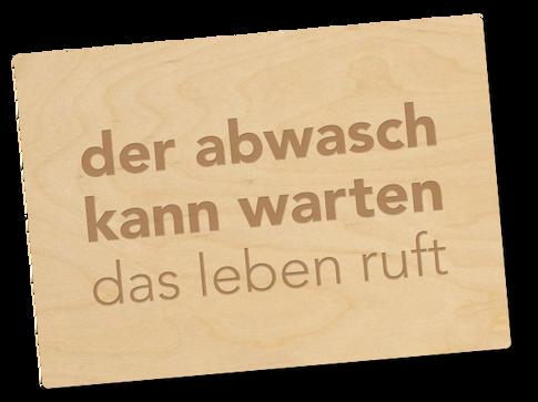 Holzpostkarte «das leben»