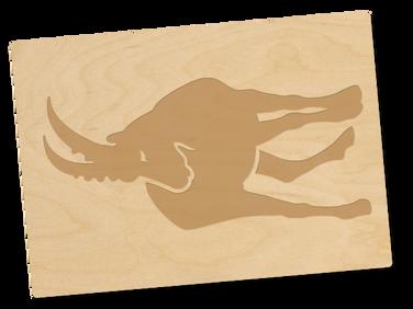 Holzpostkarte «Steinbock»